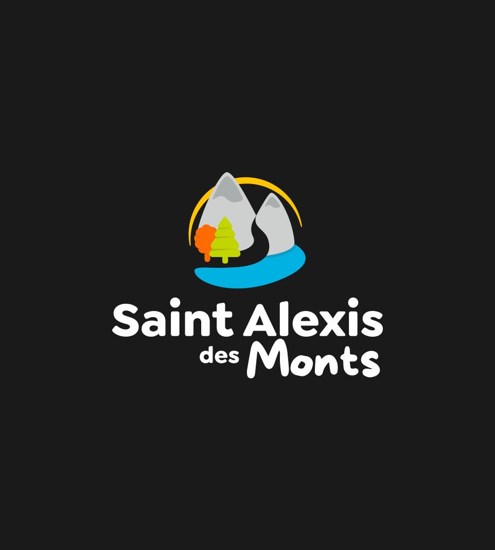 Logo de Saint-Alexis-des-Monts inversé