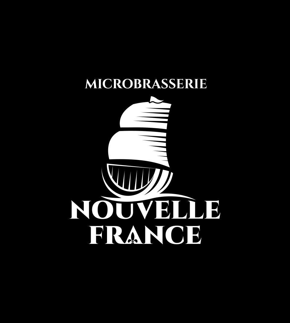 Logo Microbrasserie Nouvelle France blanc