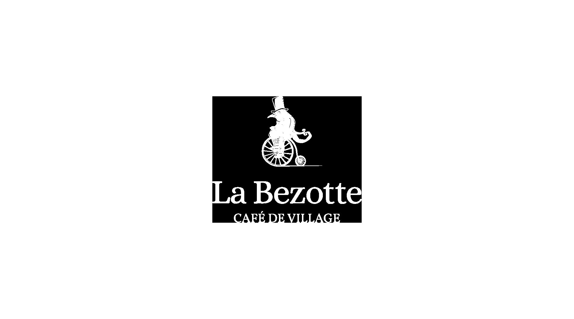 Logo de la Bezotte blanc