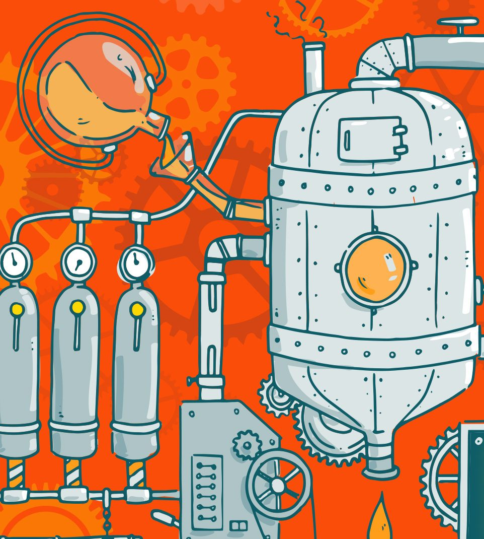 Illustration orange mécanique